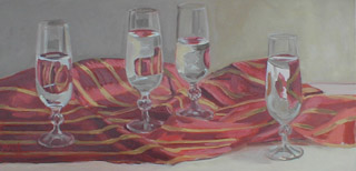 Glass Reflections, Oil on Canvas