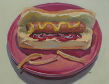 Hot Dog, Oil on Canvas