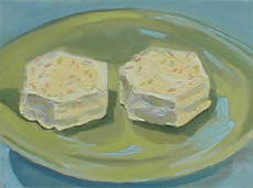 Little Debbie On A Green Plate, Oil on Canvas