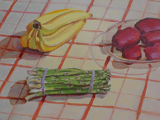 Still Life With Food, Oil on Canvas