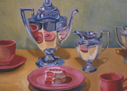 Tea and Cake, Oil on Canvas