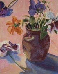 Maude's Vase, Oil on Canvas